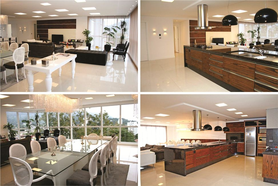 Apartamento modelo villeneuve residence proma for Sala de estar gourmet