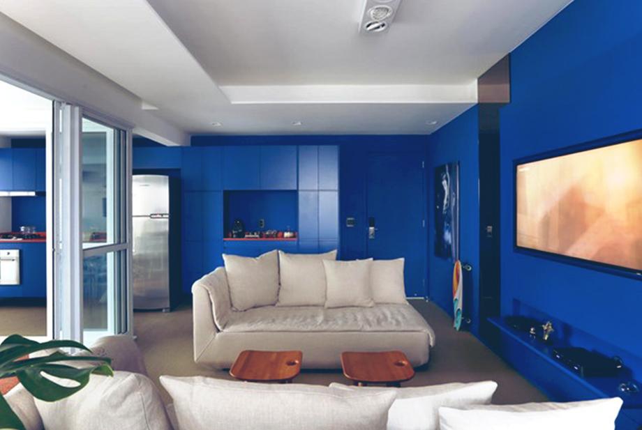 Paredes Pintadas De Azul Ideas Decorar Paredes De Casa Con Pintura - Paredes-pintadas-de-azul